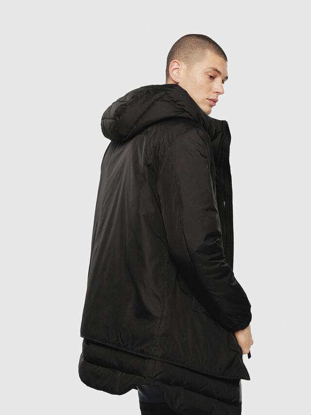 Diesel - W-SUN-REV-A, Black - Winter Jackets - Image 2