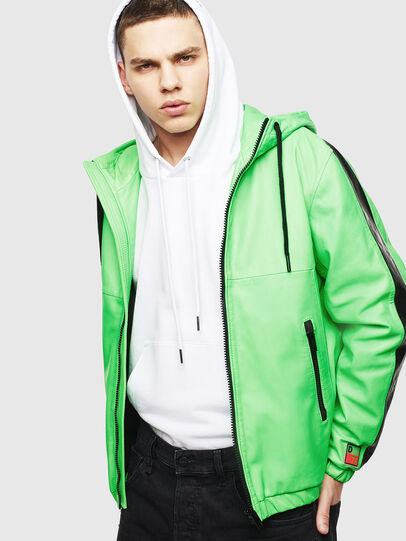 Diesel - L-CARRSY, Green Fluo - Leather jackets - Image 4