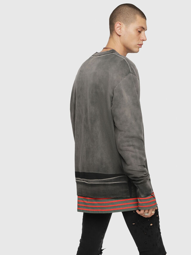 Diesel - S-BAY-YA, Black/Grey - Sweaters - Image 2