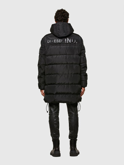 Diesel - W-RUSSELL-LONG, Black - Winter Jackets - Image 2