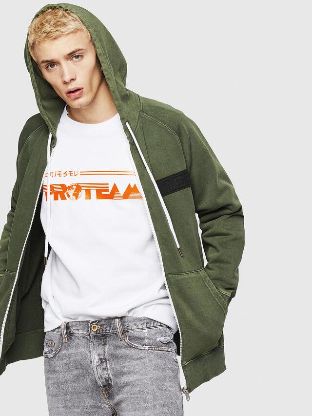 Diesel - S-GIM-HOOD-ZIP, Dark Green - Sweaters - Image 4