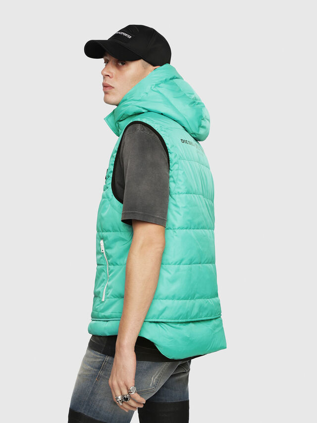 Diesel - W-SUN-REV-SLESS, Water Green - Winter Jackets - Image 3