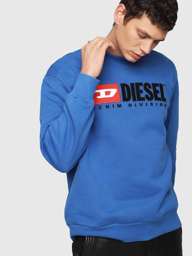 Diesel - S-CREW-DIVISION, Brilliant Blue - Sweaters - Image 4