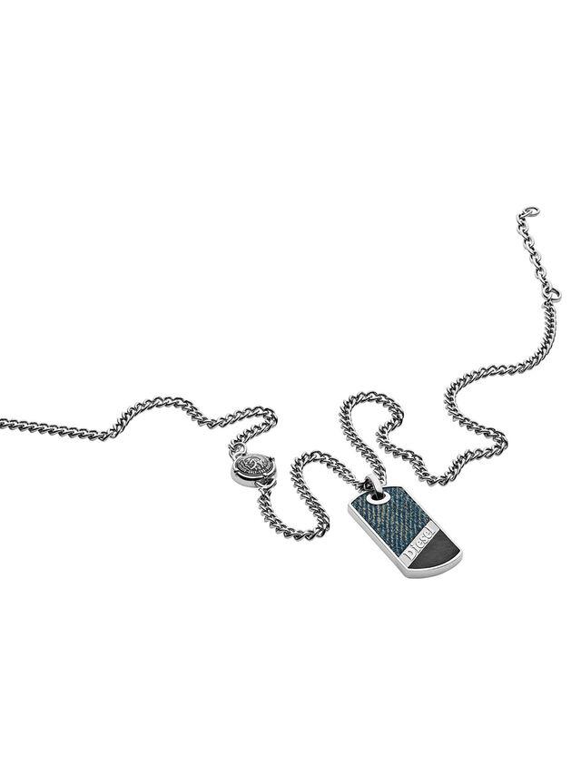 Diesel NECKLACE DX1030, Blue Jeans - Necklaces - Image 2