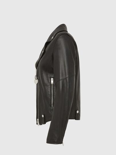 Diesel - L-LYFA, Black - Leather jackets - Image 3