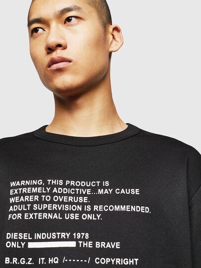 Diesel - S-BAY-MESH, Black - Sweaters - Image 3
