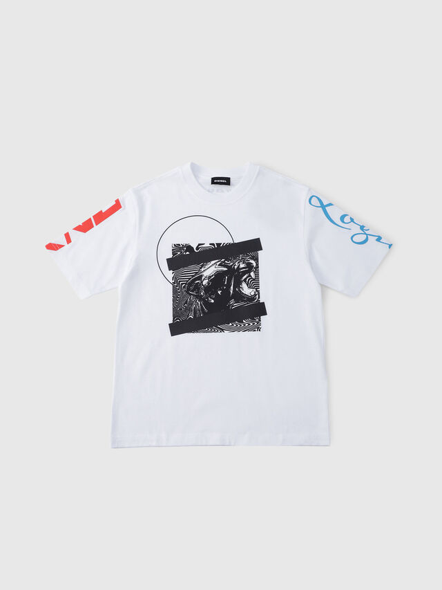 Diesel - TJUSTSH OVER, White - T-shirts and Tops - Image 1