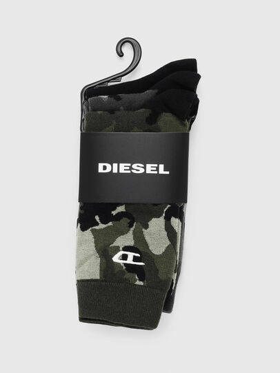 Diesel - SKM-RAY-THREEPACK, Black/Green - Socks - Image 2