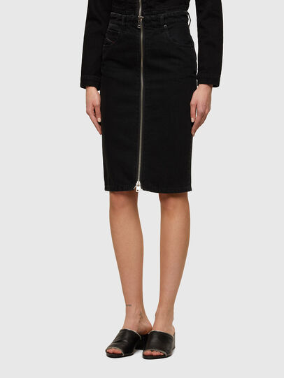 Diesel - DE-PENCIL-ZIP, Black - Skirts - Image 1
