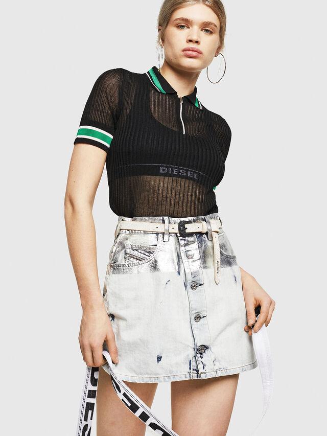 Diesel - M-FRES, Black - Knitwear - Image 4