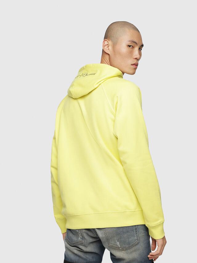 Diesel - S-GIM-HOOD-A, Light Yellow - Sweaters - Image 2