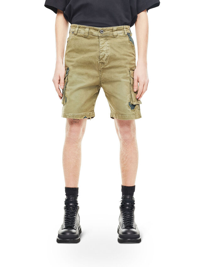 Diesel - TYPE-2908, Military Green - Shorts - Image 1