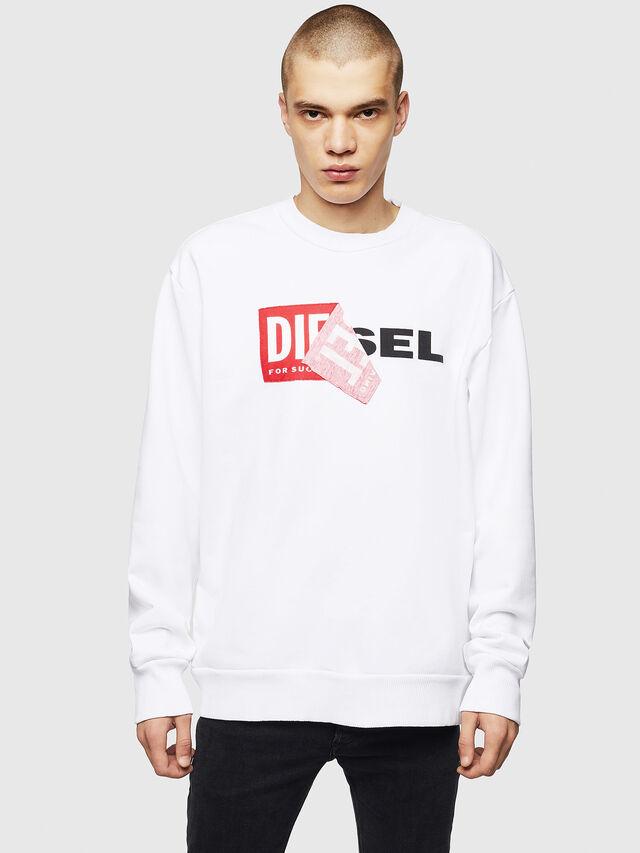 Diesel - S-SAMY, White - Sweaters - Image 1