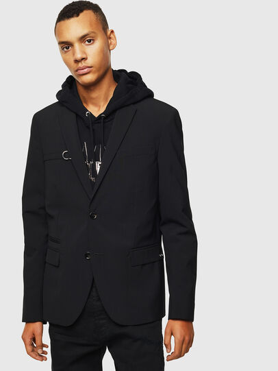Diesel - J-HOOK, Black - Jackets - Image 1