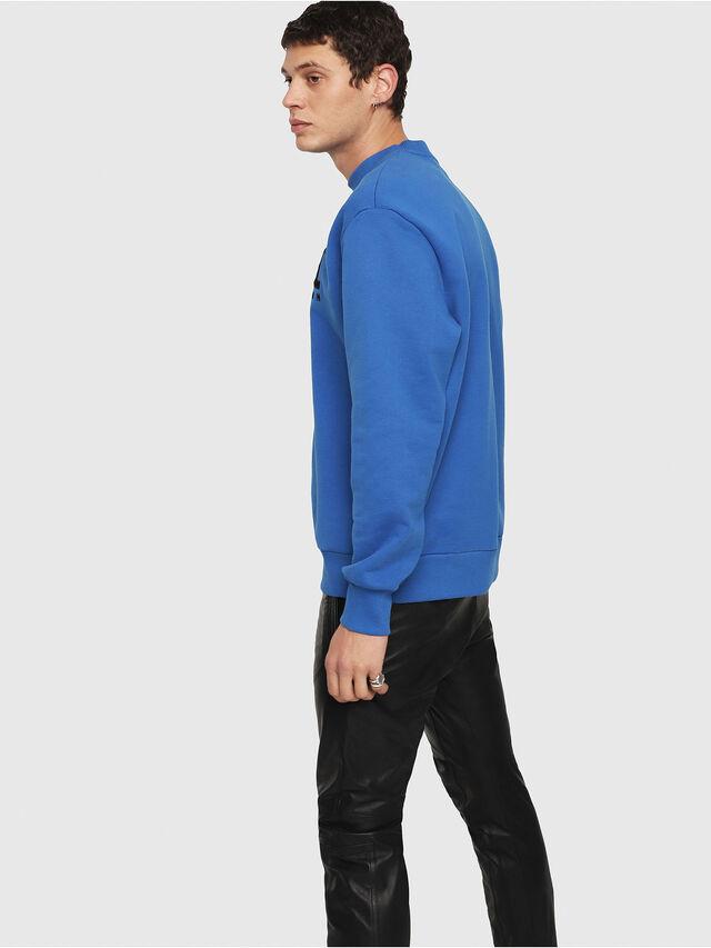 Diesel - S-CREW-DIVISION, Brilliant Blue - Sweaters - Image 2