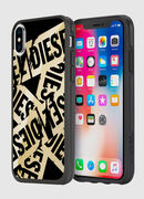 MULTI TAPE GOLD/BLACK IPHONE X CASE, Gold - Cases