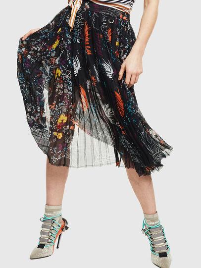 Diesel - O-PLIZ, Black - Skirts - Image 1