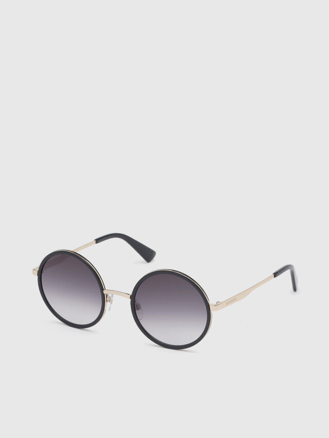 Diesel - DL0276, Black/Gold - Sunglasses - Image 2