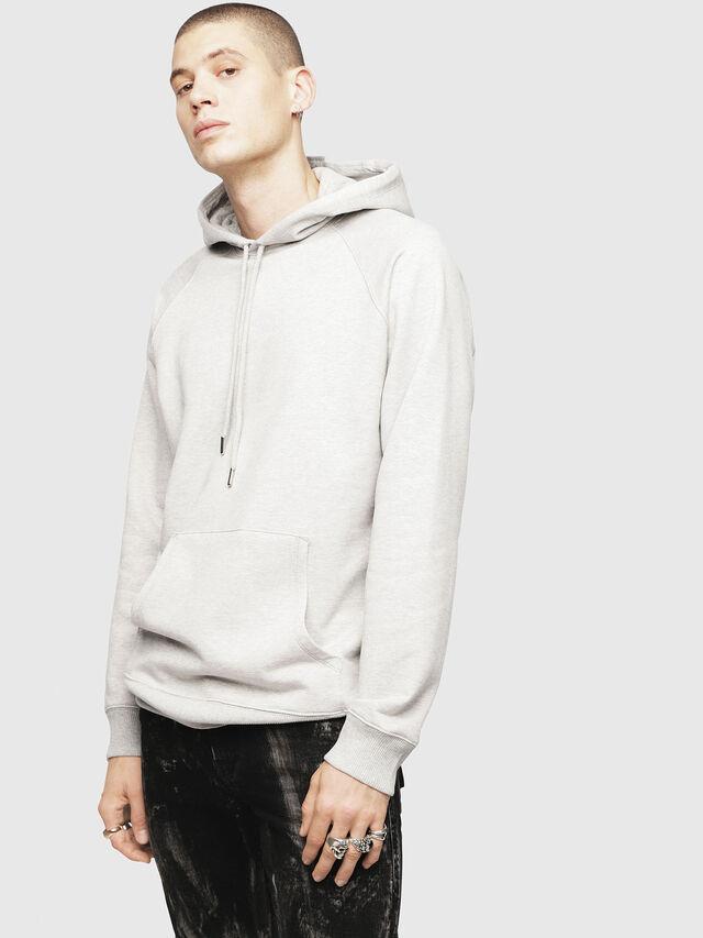 Diesel - S-GIM-HOOD-A, Light Grey - Sweaters - Image 1
