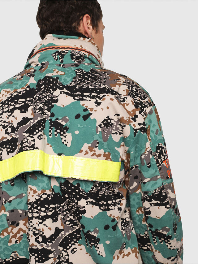 Diesel - J-TOUCHA-CAMOU, Green Camouflage - Jackets - Image 5