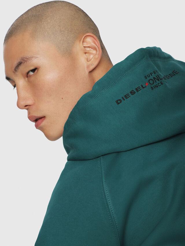 Diesel - S-GIM-HOOD-A, Dark Green - Sweaters - Image 3