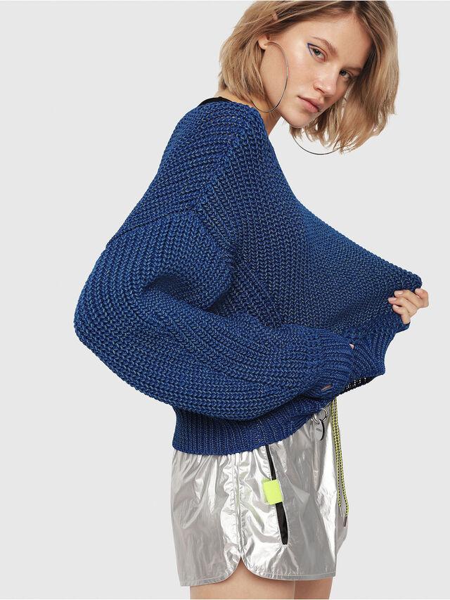 Diesel - M-BABI, Brilliant Blue - Knitwear - Image 3