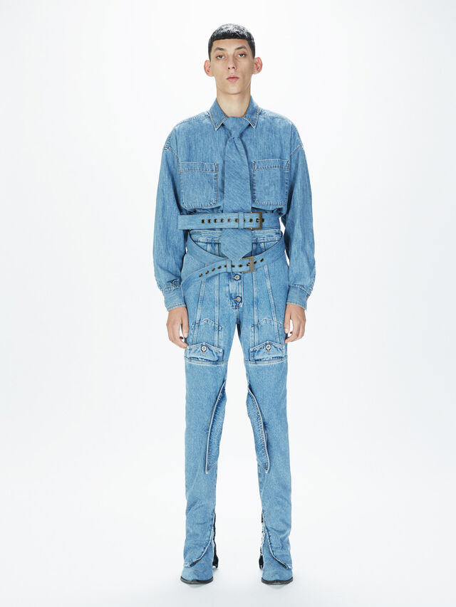 Diesel - SOJP01, Light Blue - Pants - Image 6