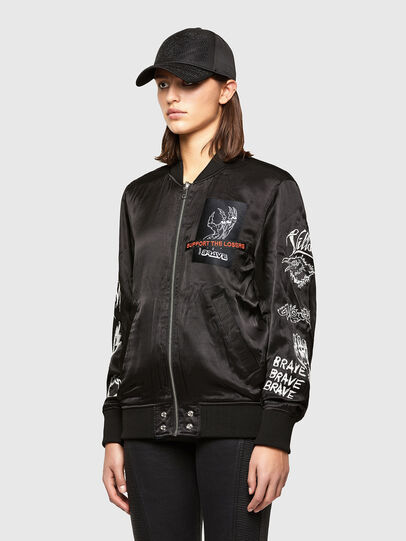 Diesel - J-SMOKED, Black - Jackets - Image 4