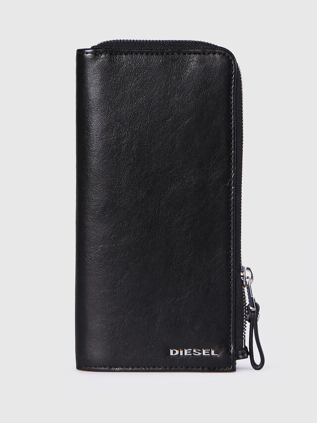 Diesel - L-24ZIP, Black - Zip-Round Wallets - Image 1