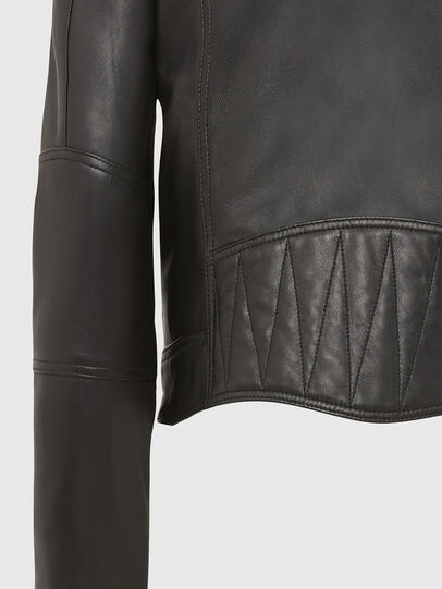 Diesel - L-SUZA, Black - Leather jackets - Image 6