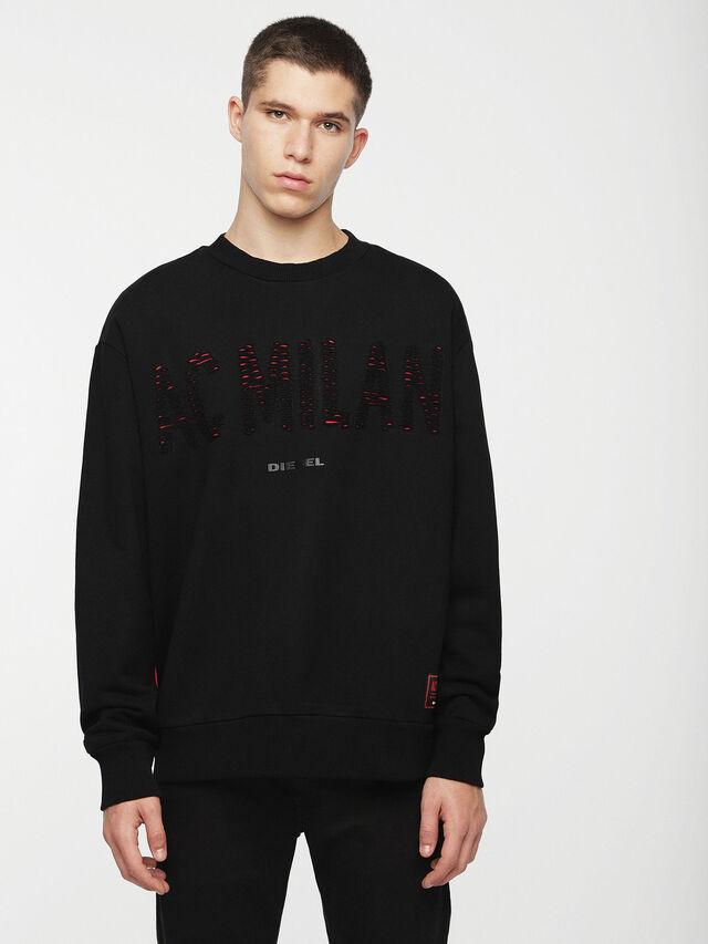 Diesel - DVL-SIFLA-CAPSULE, Black - Sweaters - Image 1