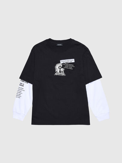 Diesel - TSHOOTYA OVER, Black/White - T-shirts and Tops - Image 1