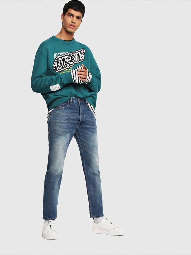 Diesel - D-Aygle 0076Y, Medium blue - Jeans - Image 5