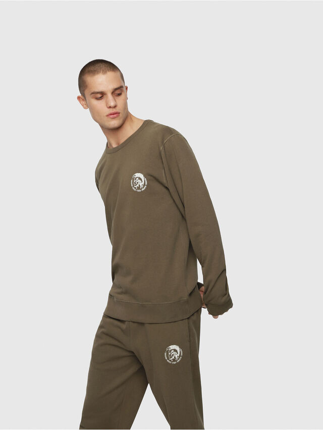 Diesel - UMLT-WILLY, Military Green - Sweaters - Image 1