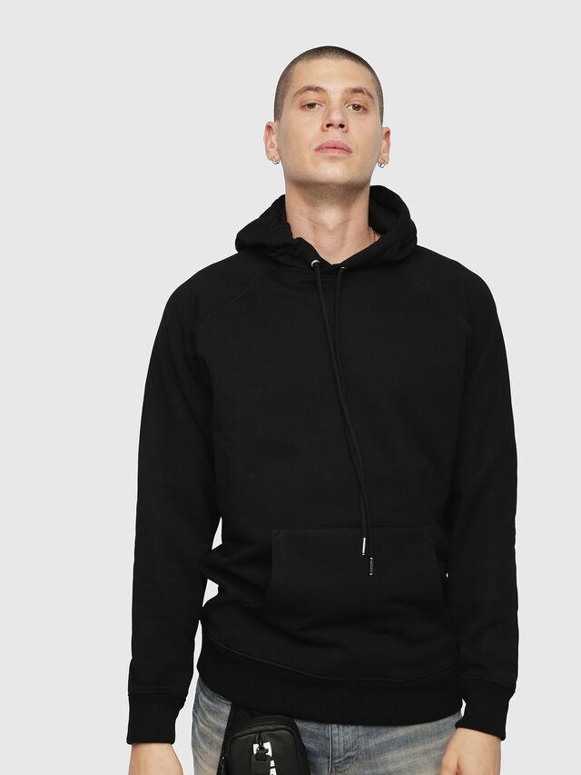 Diesel - S-GIM-HOOD-A, Black - Sweaters - Image 1