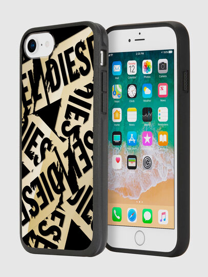 Diesel - MULTI TAPE GOLD/BLACK IPHONE 8/7/6S/6 CASE,  - Cases - Image 1