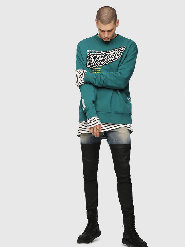 Diesel - S-BAY-YC, Dark Green - Sweaters - Image 4