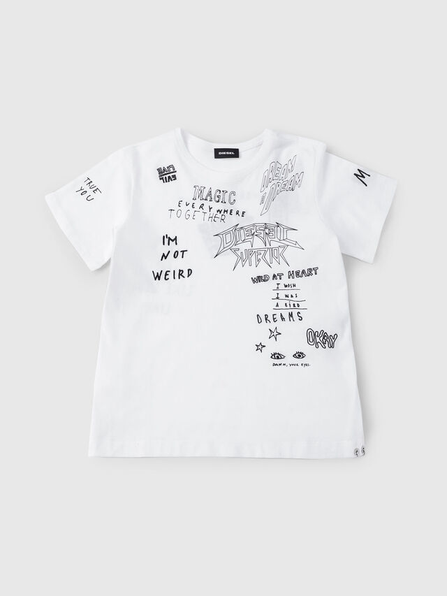 Diesel - THELOS, White - T-shirts and Tops - Image 1