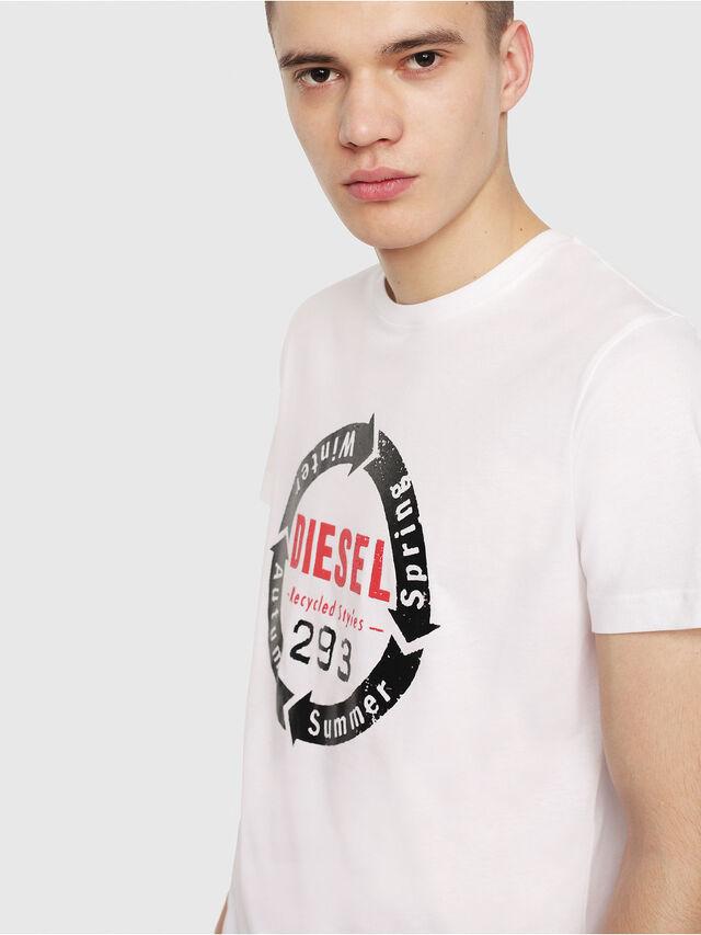 Diesel - T-DIEGO-C1, White - T-Shirts - Image 3