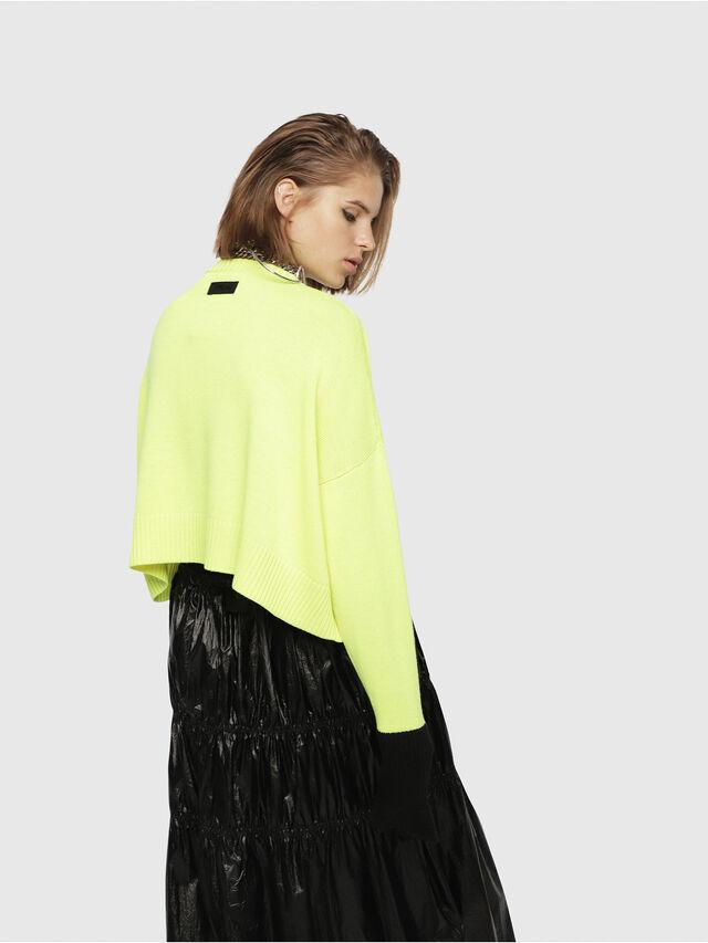 Diesel - M-TICX, Yellow Fluo - Knitwear - Image 2