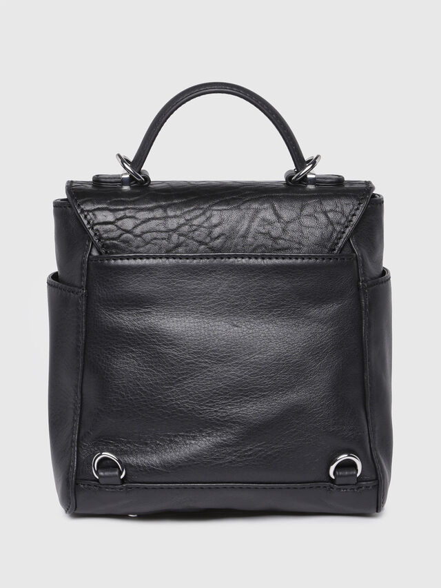Diesel - LE-KIIMY II, Black Leather - Backpacks - Image 2