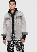 D-ROOKE-L, Light Grey - Denim Shirts