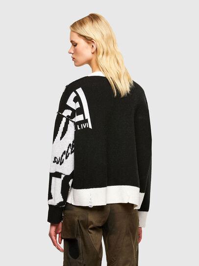 Diesel - M-ROSALINE, White/Black - Knitwear - Image 2