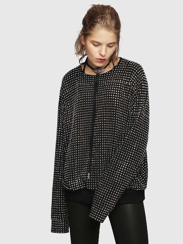 Diesel - F-NEW, Black - Sweaters - Image 1