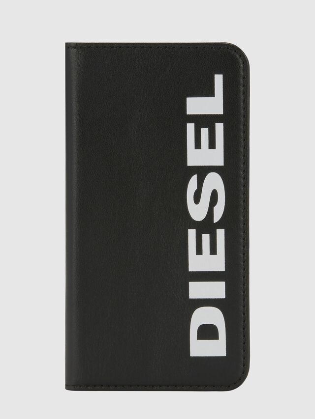 Diesel - SLIM LEATHER FOLIO IPHONE 8/7, Black - Flip covers - Image 6