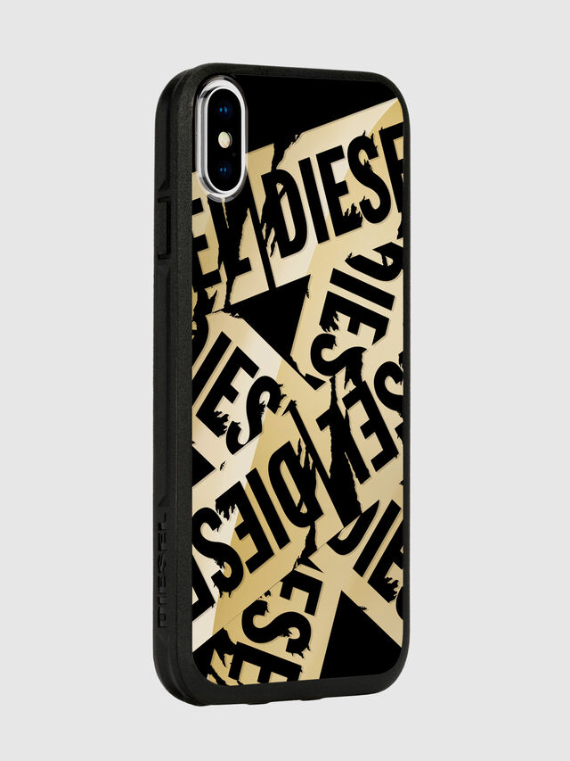 Diesel - MULTI TAPE GOLD/BLACK IPHONE X CASE, Gold - Cases - Image 6