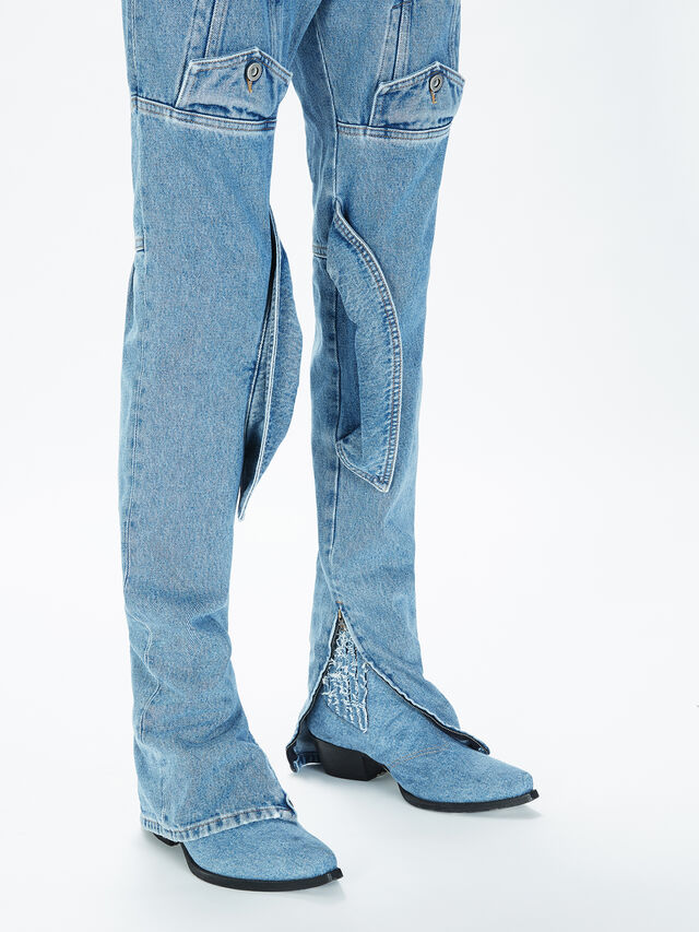 Diesel - SOJP01, Light Blue - Pants - Image 5