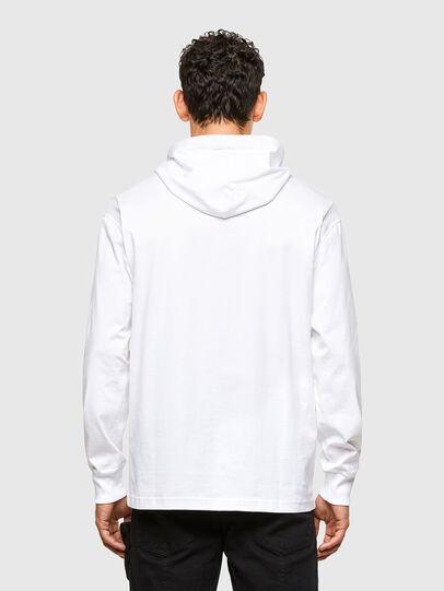 Diesel - T-FONTAL-LS-HOOD, White - T-Shirts - Image 2