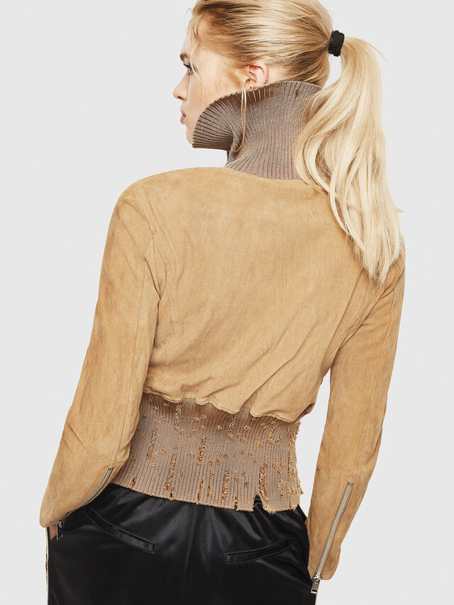 Diesel - L-LYS-A, Camel - Leather jackets - Image 2