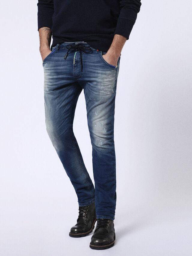 Diesel - Krooley JoggJeans 0680Y, Medium blue - Jeans - Image 1